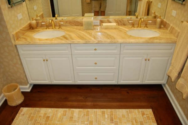 Onyx countertops are extremely easy to clean and can be wiped down with warm, soapy water. For the various types of onyx that we fabricate and install go to ...